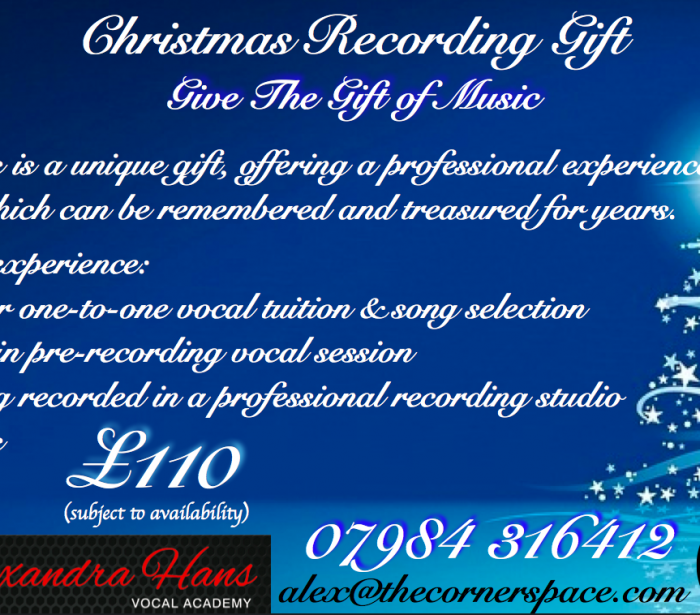 Christmas Recording and Tuition Gift